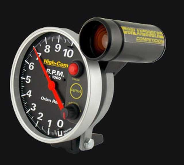 Tacometro 10000 rpm alta competicion negro orlan rober