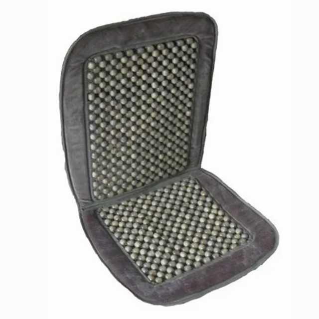 Cubre asiento bolita con borde pana gris