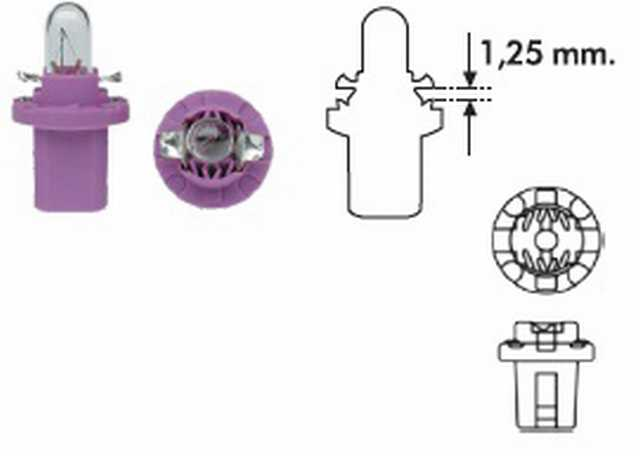 Pbx5 12v 0.4w lila magneti marelli