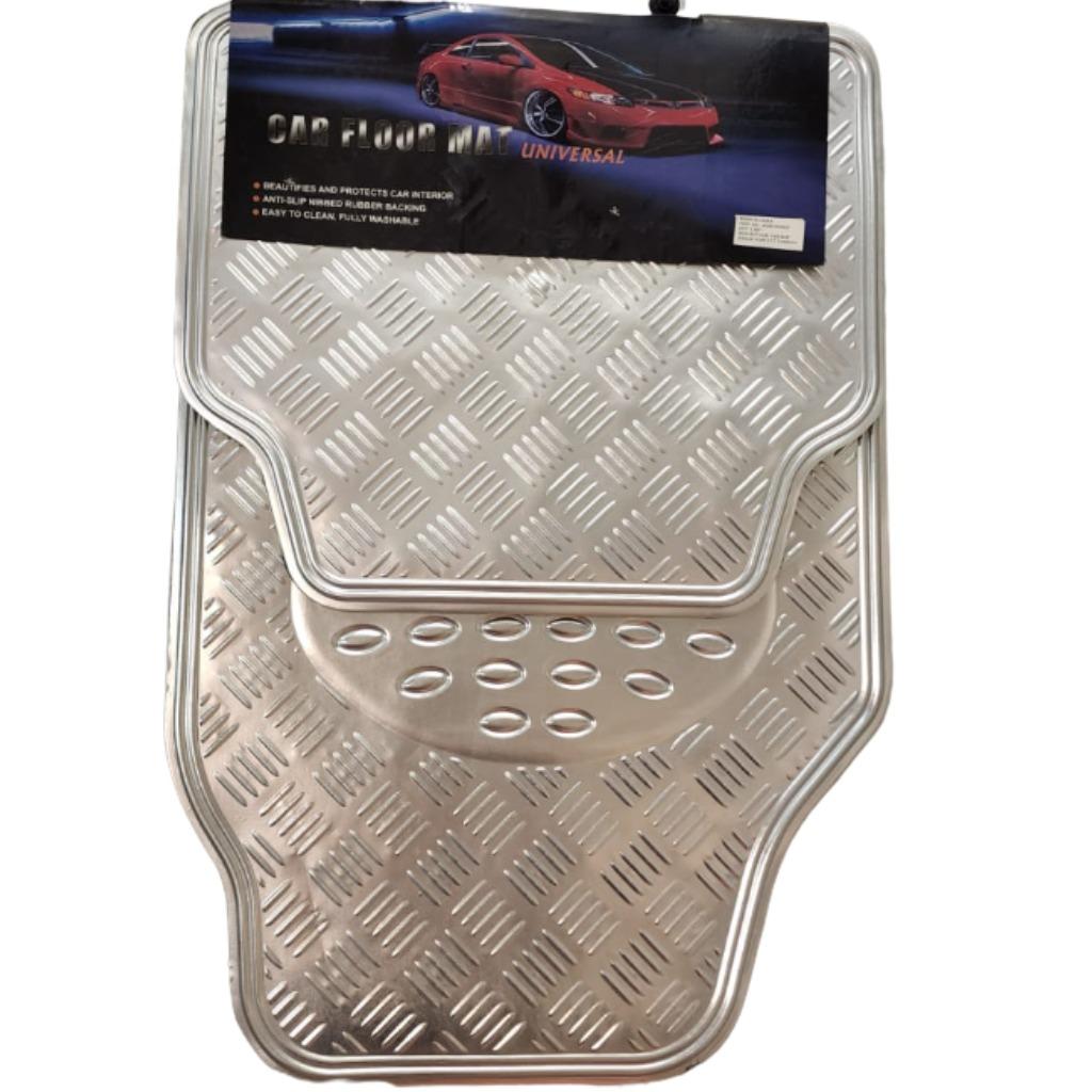 Cubre alfombra simil aluminio opaco 4 pcs gris