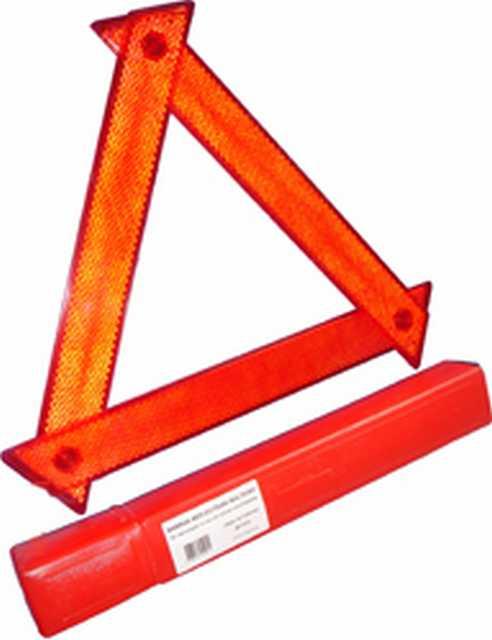 Baliza triangulo en estuche plastico x jgo.