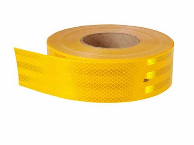 Rollo cinta reflectiva amarilla 45.7 mts. x 5 cm