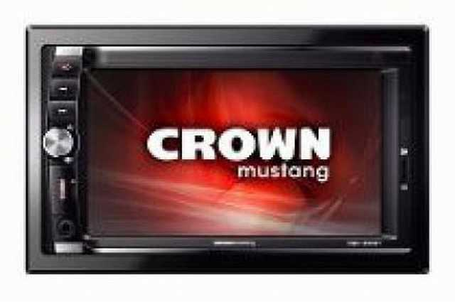 Radio digital crown mustang pantalla 6.2 bluetooth sd-usb
