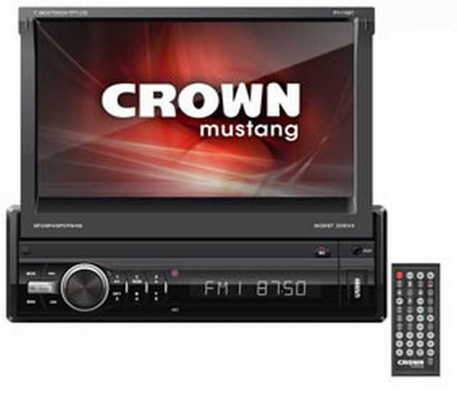 Radio digital crown mustang in-dash 7 bluetooth usb-sd-mmc