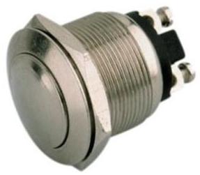 Boton pulsador metalico redondo