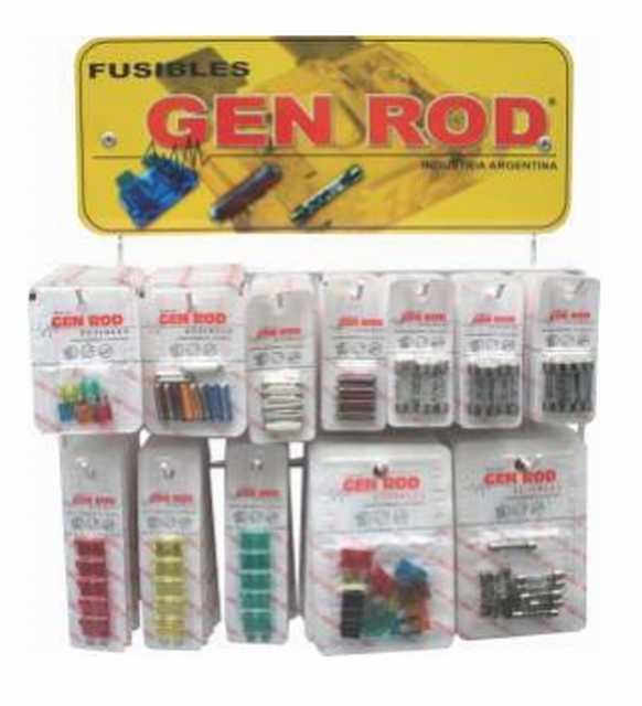 Exhibidor con fusibles varios gen rod grande 700 fusibles