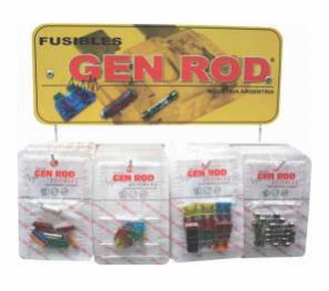 Exhibidor con fusibles varios gen rod chico 400 fusibles
