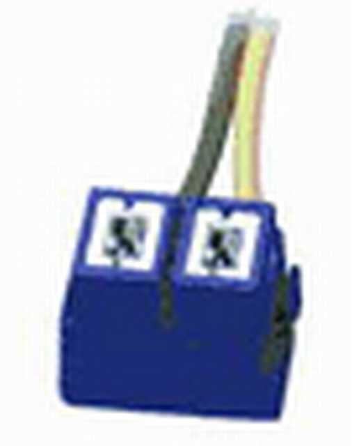 Ficha h7 2 vias ceramica tapa goma cable 1,50 mm tr107a