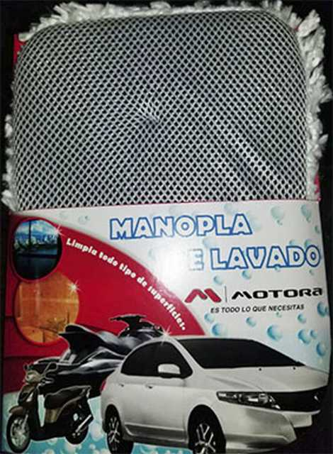 Manopla premium microfibra doble funcion