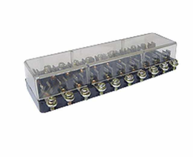 Caja porta fusibles conicos para 10 pcs. eporbx310