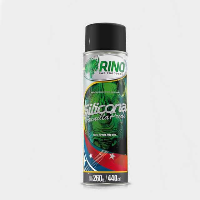 Silicona aerosol vainilla pride rino 440cc