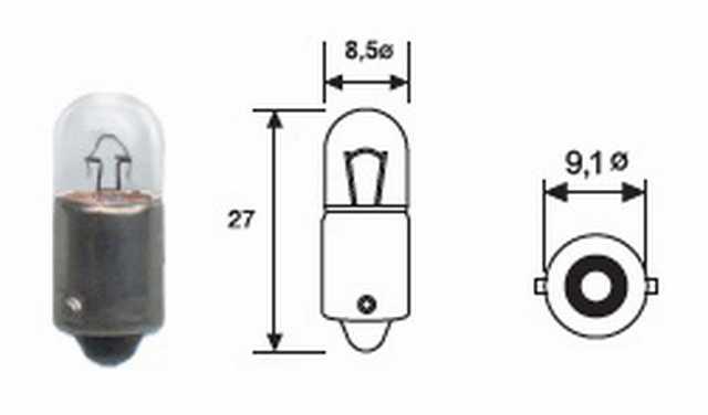 T4 12v 4w magneti marelli