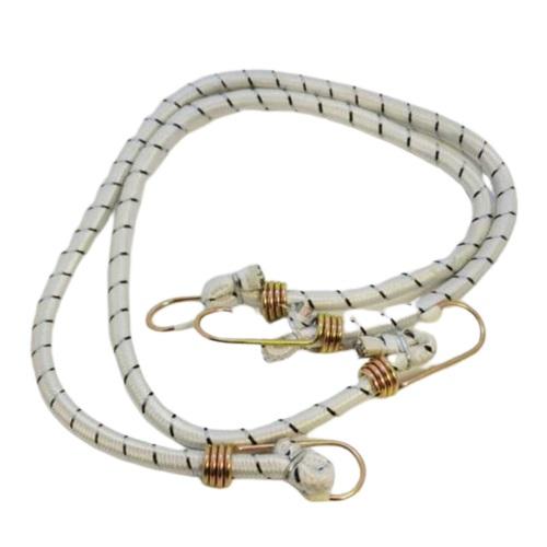 Tensor elastico con ganchos metalicos 10mm x 80cm x 2 pcs