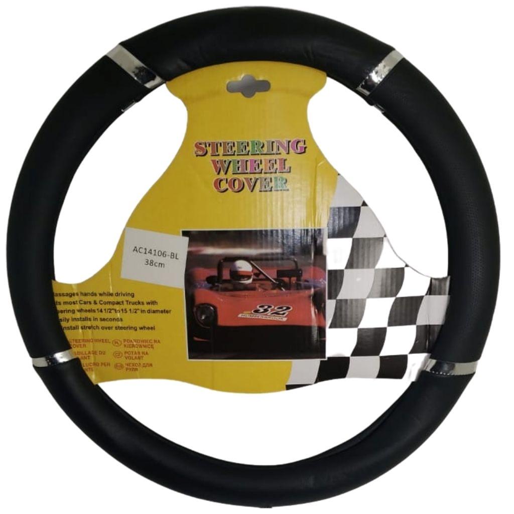 Cubre volante ac detalle cromo cuerpo negro