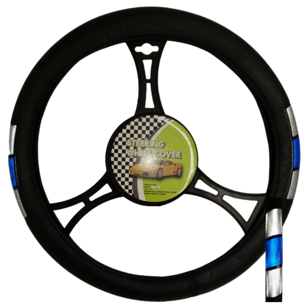 Cubre volante ac tribanda reflectivo gris-azul-gris