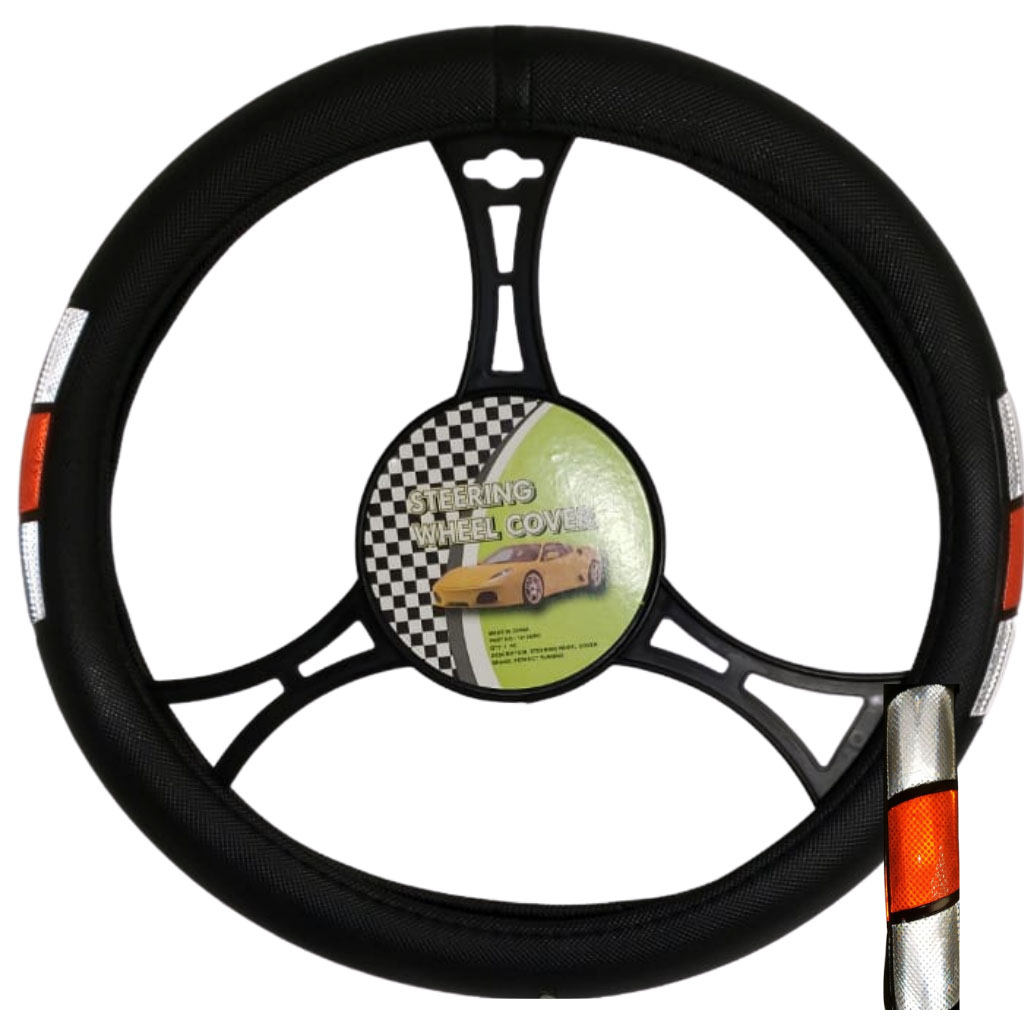 Cubre volante ac tribanda reflectivo gris rojo gris