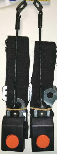 Cinturon seguridad delantero con baston largo flexible x jgo