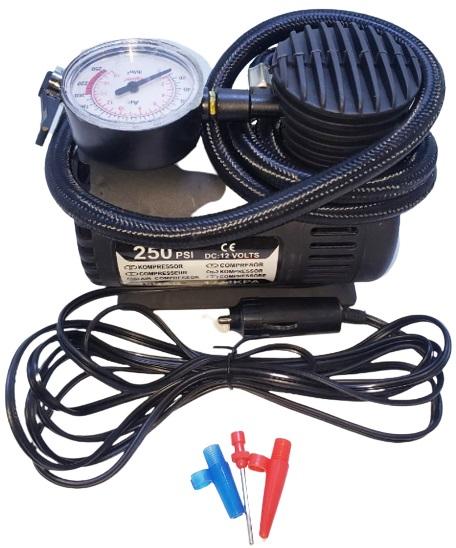 Compresor plastico 12v 10a 250psi 3m cable 50cm