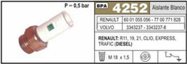 Bpa renault 11-19-21-clio-expres-trafic (diesel) aisl. blanc