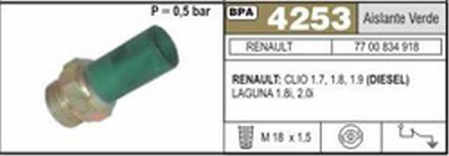 Bpa renault clio 1.7 1.8 y 1.9 diesel aisl. verde