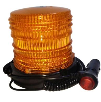 Baliza 48 smd 5050 flash dc10-30v rotativa ambar