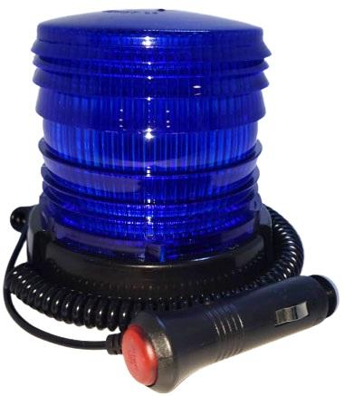 Baliza 48 smd 5050 flash dc10-30v rotativa azul