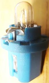Portalampara testigo rectangular azul