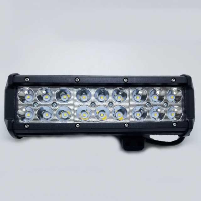 Barra 18 led 54w 10-30v 6000k 24 cm aluminio negro res (20)