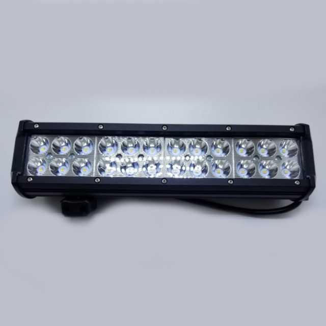 Barra 24 led 72w 10-30v 6000k 30 cm aluminio negro res(10)