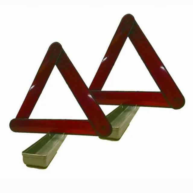 Baliza triangulo luem en estuche plastico x jgo.