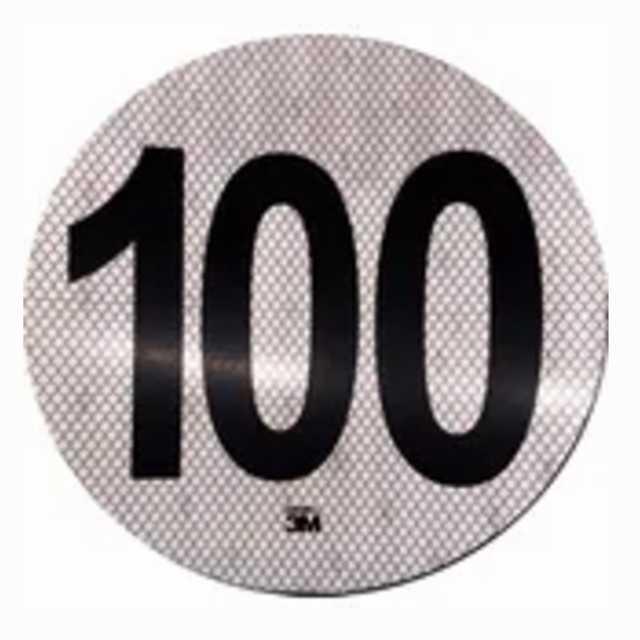 Logo reflectivo 3m maxima 100 km-h