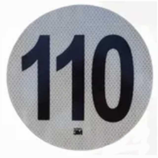 Logo reflectivo 3m maxima 110 km-h