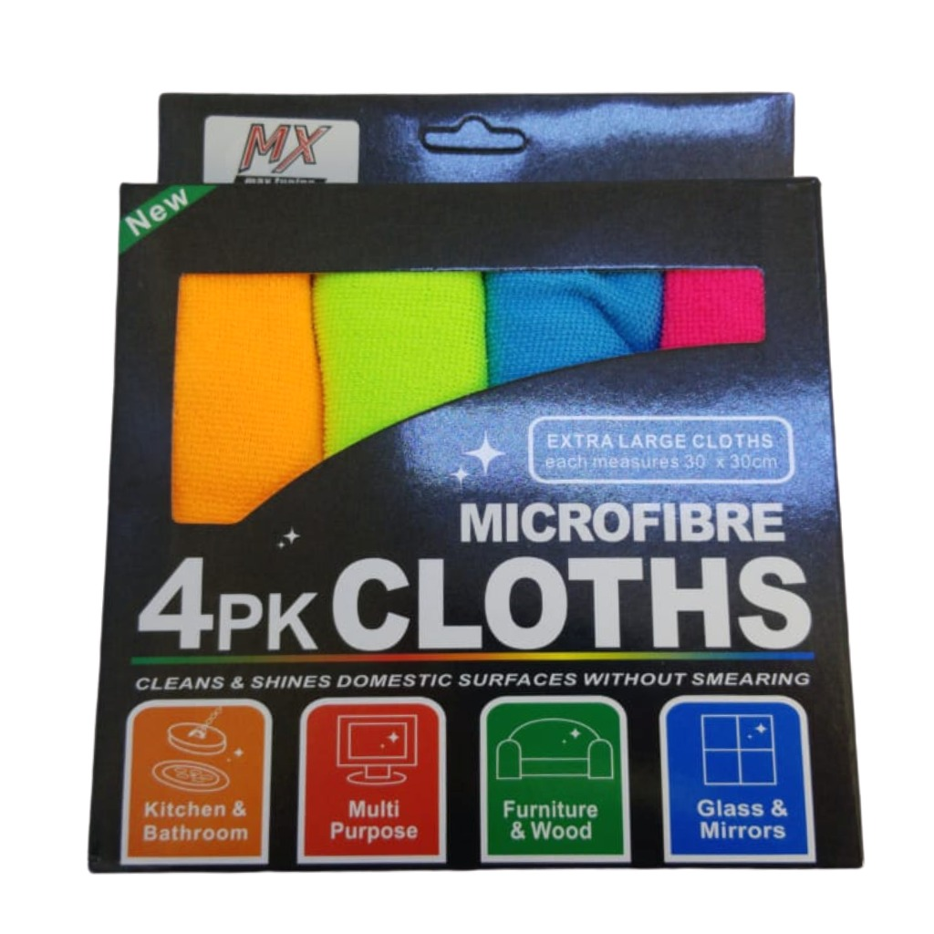 Microfibra pack x 4 - 30 x 30 cm