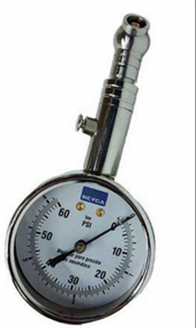 Medidor de presion beyca 58mm cabeza giratoria cromado 0-60