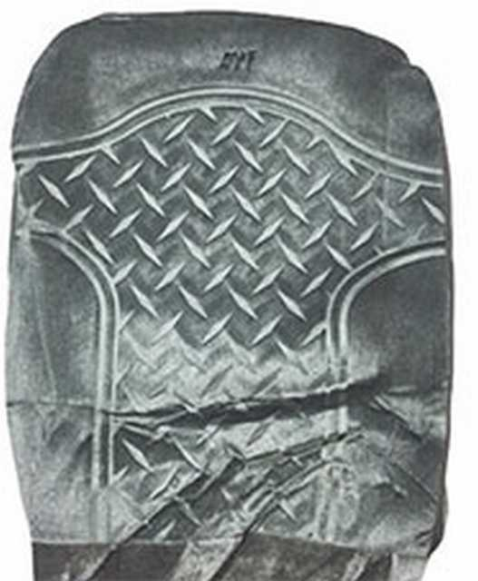 Funda terciopelo rombo gris