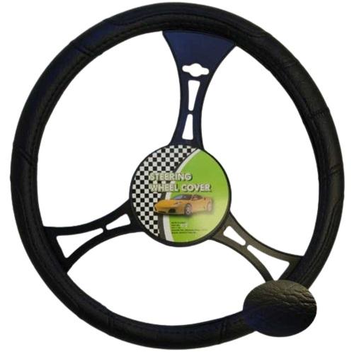 Cubre volante negro liso 38 cm.