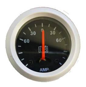 Amperimetro importado 40mm fondo negro