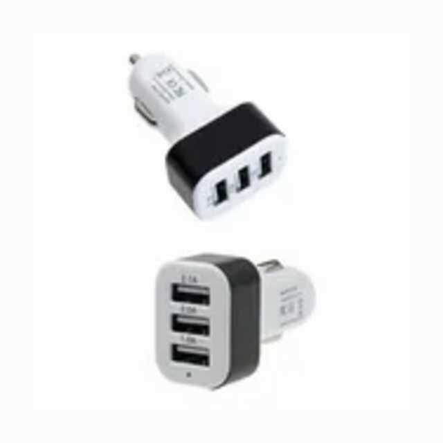 Adaptador encendedor 12-24v a 3-usb 4.8-5.3v 2100ma con led