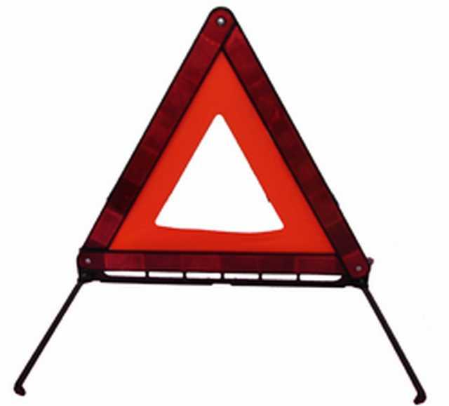 Baliza triangulo base hierro reflec c-tela x unid fs40804